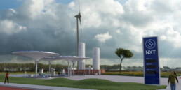 Impressie van NXT tankstation Boekelermeer, Alkmaar
