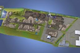 Overzichtskaart van Het GP Groot/Sortiva terrein te Alkmaar